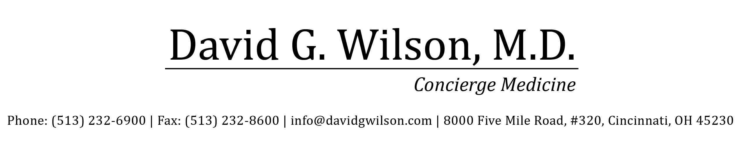 Dr. Wilson logo and contact information